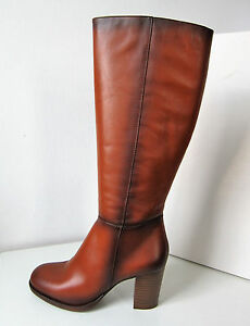 Details zu Tamaris Stiefel High heel nut cafe cognac 36 Boots brown Blockabsatz