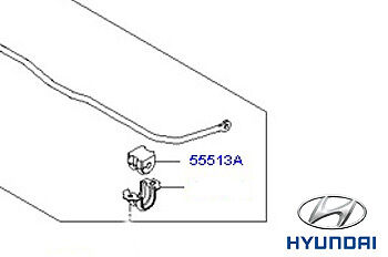555132E100 Genuine Hyundai Tucson Rear Anti Roll Bar Bush