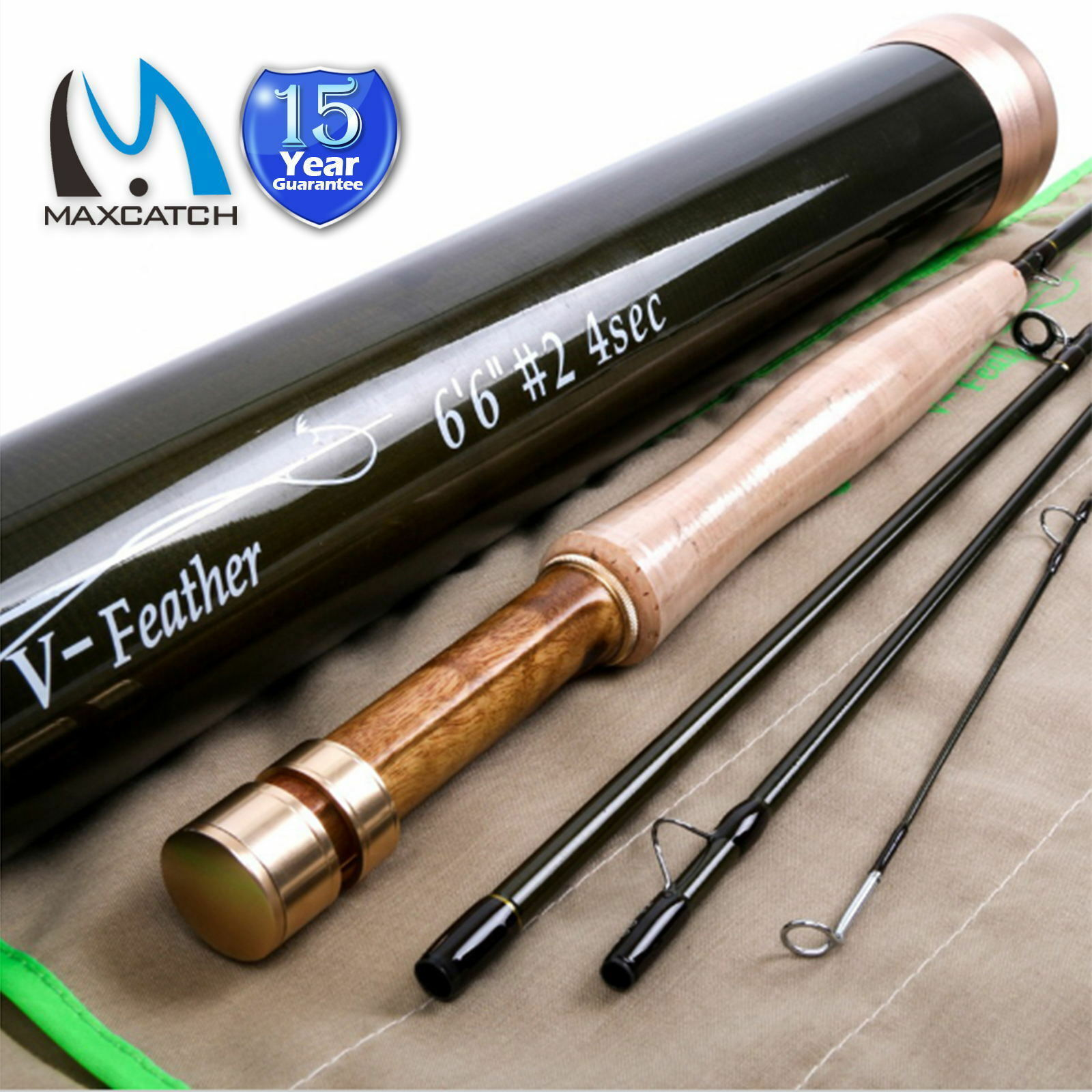Feather Fly Fishing Rod 1/2/3wt 6'/6'6