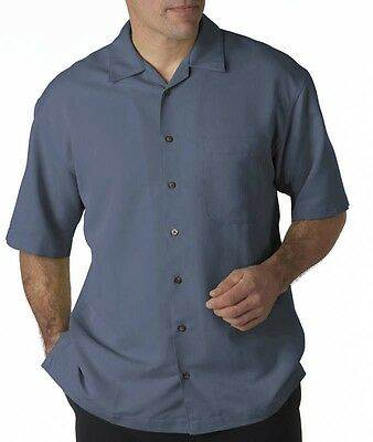 Big Men's UltraClub Casual Cabana Shirt Sizes 3XL 4XL 5XL 6XL