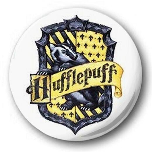 HUFFLEPUFF LOGO 1 Inch 25mm Button Badge Harry Potter Hogwarts Gryffindor