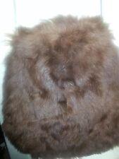 Large Brown genuine fur handbag purse bag
