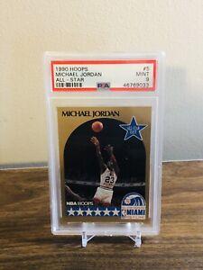 1990 Hoops #5 - Michael Jordan All Star - PSA 9 Mint CENTERED