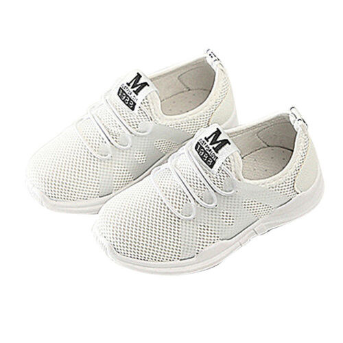 Kids Boys Girls Mesh Sports Breathable Sneakers Trainers Casual Running Shoes SP