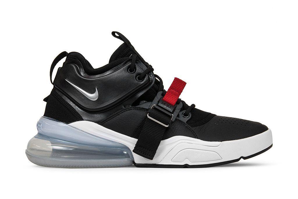 Nike Air Force 1 270 Black Chrome University Red White AH6772-001 Feel Big