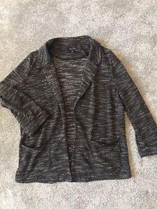 Women-039-s-New-Look-Blazer-Cardigan-Nero-Bianco-Taglia-16