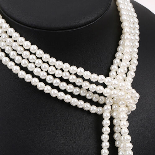 Elegant Pearl Tassel Chain Long Pendant Necklace Charms Sweater Jewelry GiftYNFK