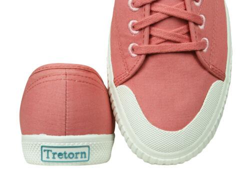 Tretorn T58 popeline Femme Toile Baskets Décontractées Tennis Rose