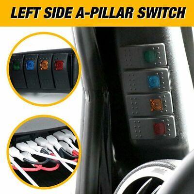 Left Driver Side A-Pillar 4 Rocker Switch Pod For Jeep Wrangler JK 2007-2017