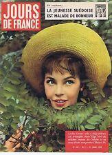 COUVERTURE MAGAZINE,COVERAGE Jours de France  n°227 21/03/59 Leslie Caron
