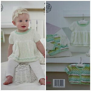 3fa97370b Image is loading KNITTING-PATTERN-Baby-Dress-Cardigan-Cropped-Cardigan-Baby-