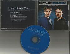Darren hayes SAVAGE GARDEN I Knew I loved you PROMO DJ CD single PRINTED LYRICS