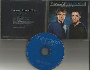 Darren Hayes Savage Garden I Knew I Loved You Promo Dj Cd Single Printed Lyrics Ebay