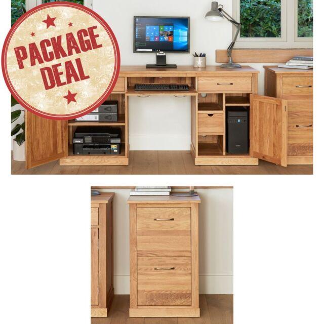 Picture mobel oak large hidden Solid Oak Mobel Solid Oak Furniture Large Hidden Desk And Filing Cabinet Package Ebay Mobel Solid Oak Office Furniture Hidden Twin Pedestal Desk And