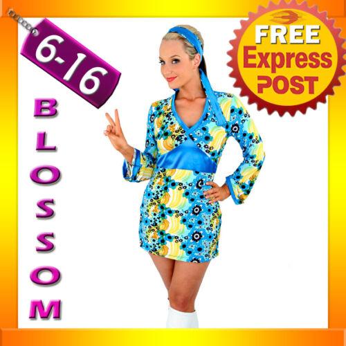 E50 60s 70s Retro Hippie Go Go Girl Disco Fancy Dress Halloween Mod Costume