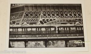 Carte-Postale-Photo-Frank-HORVAT-PARIS-TOUR-EIFFEL-et-METRO-1956-Edition-1995