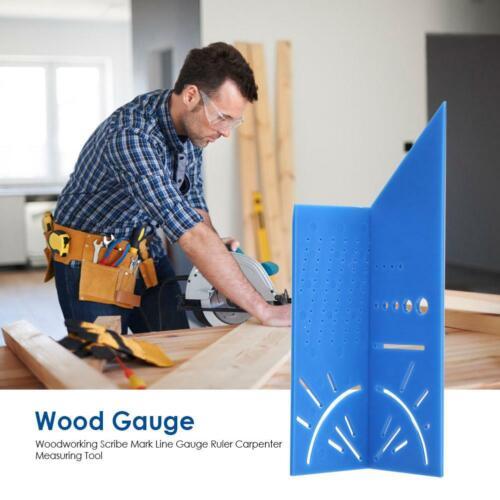 Woodworking Scribe Mark Line Gauge Caliper Ruler Carpenter Measuring Metal Tools