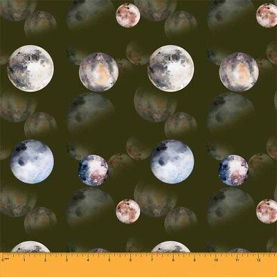 GX-14E Soimoi Stoff Dreieck /& Planeten Namen Galaxis Stoff 1 Meter bedrucken