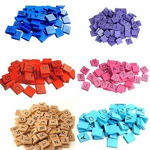 Scrabble-Ersatzteile-Holz-Buchstaben-und-Zahlen-Spielzubehoer-Brettspiel-100-St