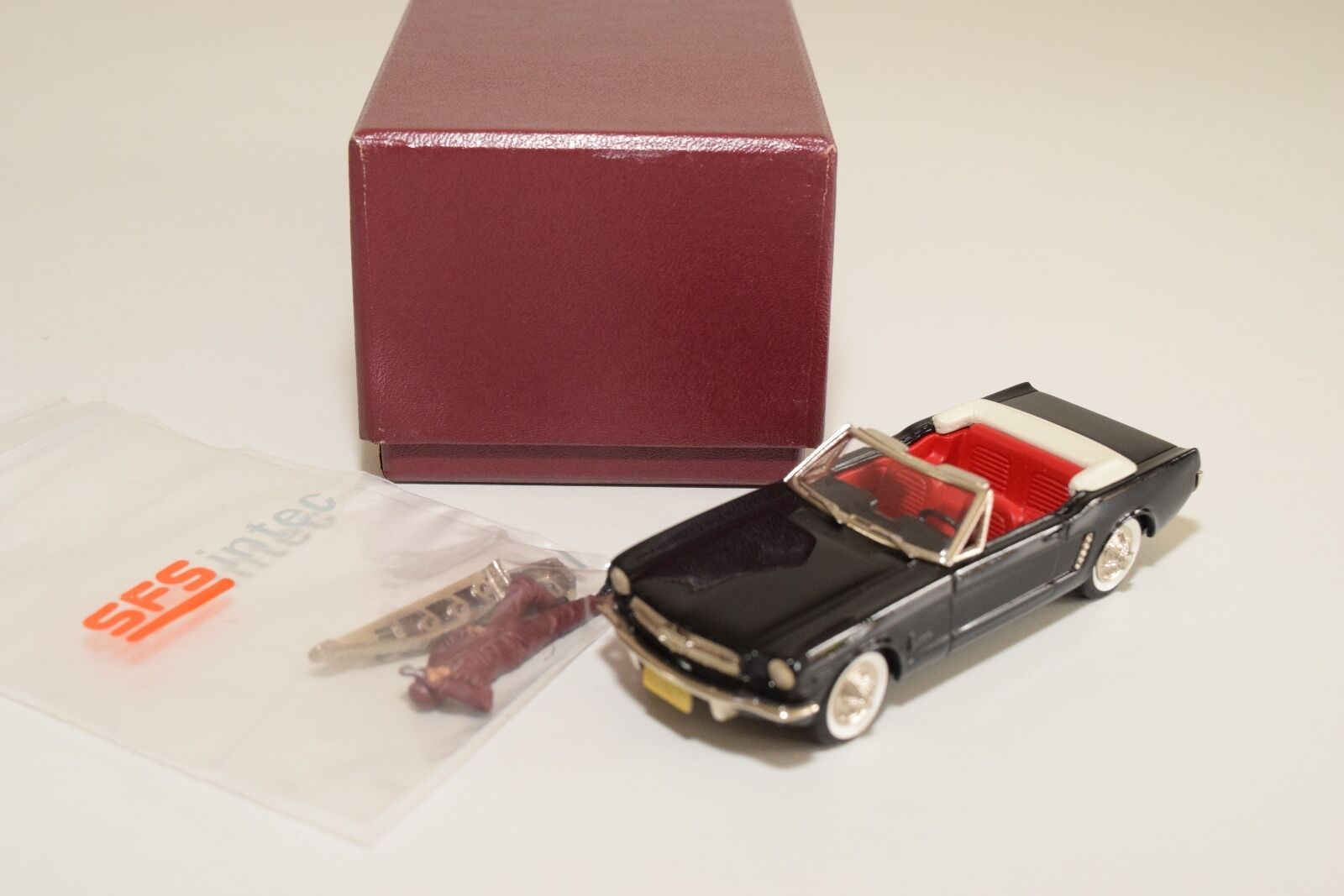 -- BROOKLIN BRK 56X 1965 FORD MUSTANG CONverdeIBLE nero WMTC 1997 MINT BOXED