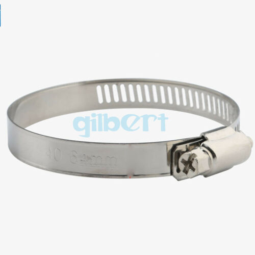 Adjustable 25-160mm Dia Stainless steel Suction Hose Clamp Hoop Woodwork CNC