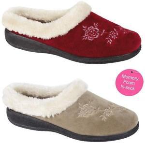 Ladies-Slippers-Women-Girls-Winter-Warm-Fur-Luxury-Memory-Foam-Slippers-Shoes