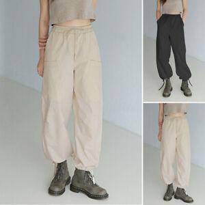 ZANZEA-Femme-Pantalon-Cargo-Taille-elastique-Deux-Poche-Casual-en-vrac-Plus