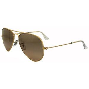 Ray-Ban-Sunglasses-Aviator-3025-001-3E-Gold-Pink-Silver-Mirror-Small-55mm