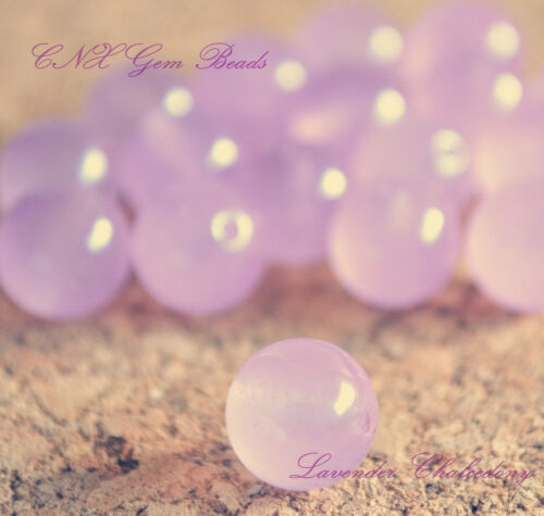 5 Beads of Natural Purple Lavender Chalcedony Round 10mm  Crystal Gemstone DIY
