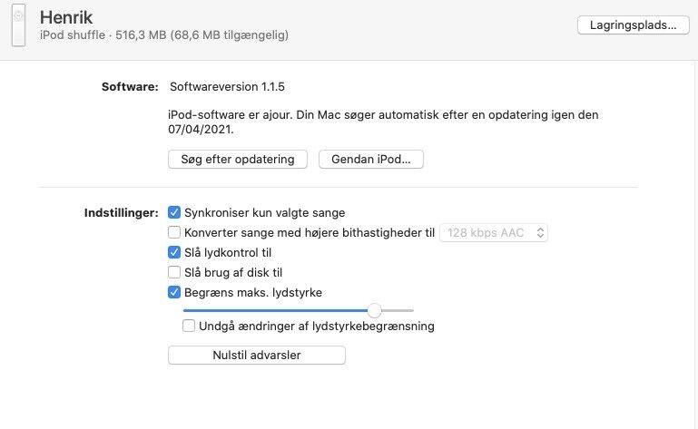 iPod, Shuffle, 1 GB