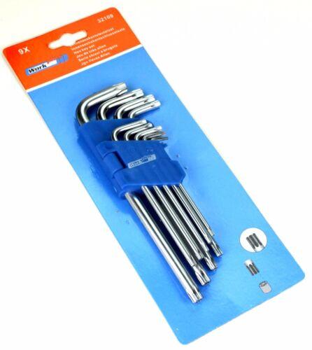 Torx Schlüssel Satz 9x Schraubendreher Set Werkzeug Hobby Winkelschlüssel Work