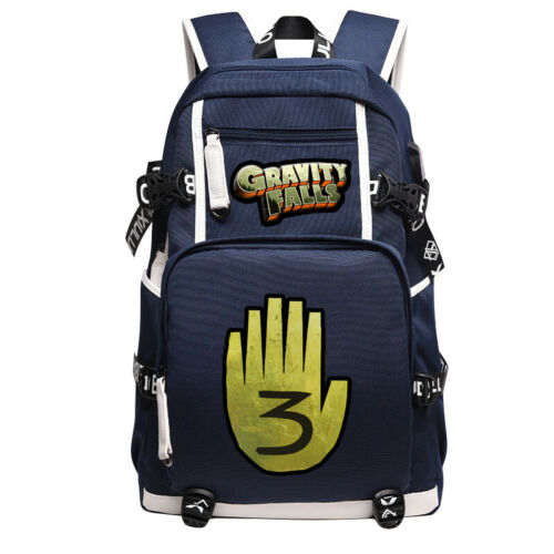 Gravity Falls Bill Cipher Backpack Bookbag Travel Straps Bag Laptop Shoulder Bag