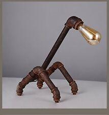SUN-E Retro Metal Desk lamp Light Novely Antique Iron Industrial Water Pipe NEW