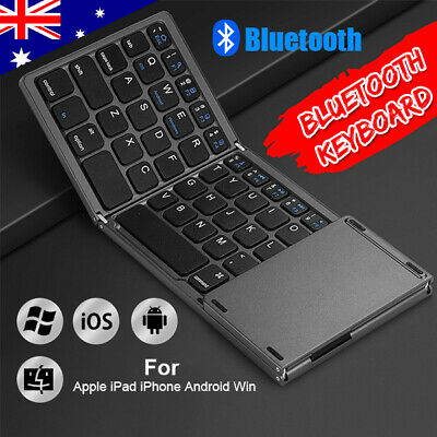 Details about  Mini Slim Bluetooth Wireless Keyboard Touchpad for iPad iPhone Android Windows