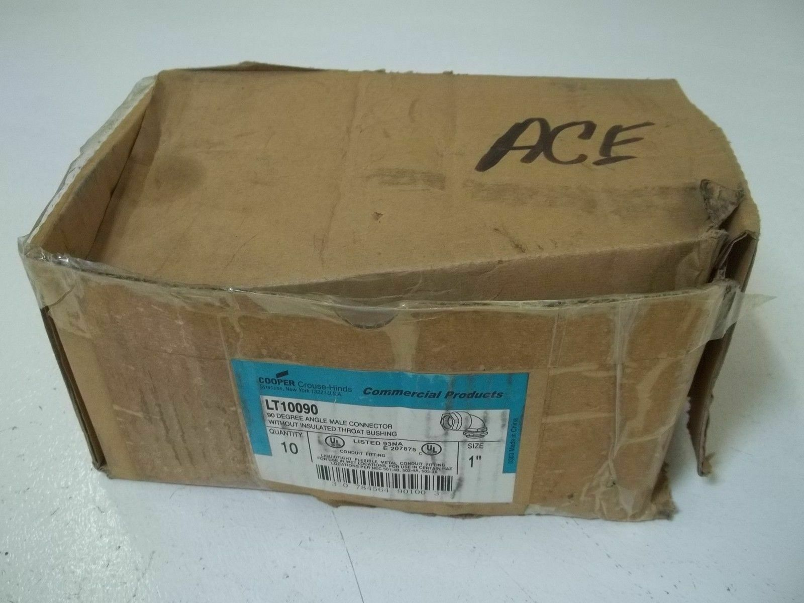 LOT OF 7 CROUSE-HINDS LT10090 90 DEGREE ANGLE MALE CONNECTOR 1  NEW IN BOX