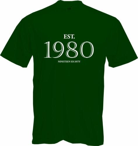 Present 40th BIRTHDAY NEW Fun 2020 EST T Shirt Established 1980 Gift