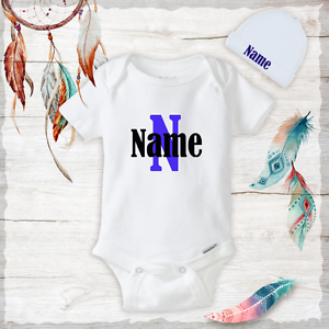 ca14a57cb44a Image is loading Personalized-Name-Cute-Baby-Boy-Clothes-Onesies-Hat-