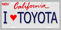1/10 Scale License Plate For Rc Car I Love Toyota
