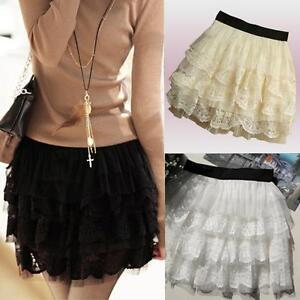 Sexy-Tulle-Lace-Tutu-Mini-Skirt-Black-White-Beige-Selectabe-S-M