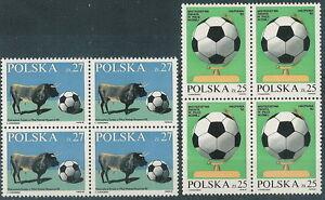 Poland stamps MNH World cup football Espania 82 (Mi. 2812-13) (4x) - Bystra Slaska, Polska - Poland stamps MNH World cup football Espania 82 (Mi. 2812-13) (4x) - Bystra Slaska, Polska