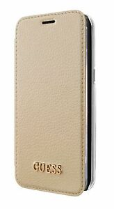 Details about Genuine GUESS Iridescent Collection Book Case for Samsung S8+ Plus in Gold