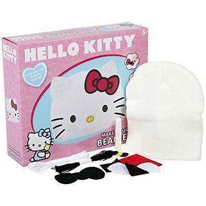 hello kitty beanie hat set girls fun activity cool winter hat making