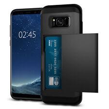 Credit Card Pocket Slide Slim Shockproof Cover Case For Samsung Galaxy S8 Plus