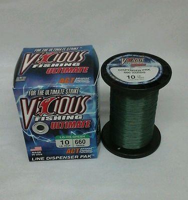 Vicious Brand ULTIMATE FISHING LINE 4# Test 330 yd Spool