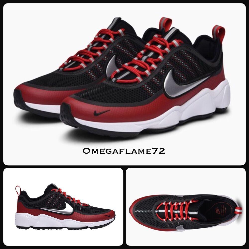 Nike Zoom Spiridon Noir & Rouge 876267-005  Chaussures de sport pour hommes et femmes