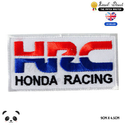 HRC Honda Racing Embroidered Iron On Sew On Patch Badge For Clothes Bags etc