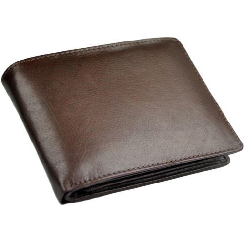 PORTAFOGLIO con RFID Protezione elegante pelle bovina Portamonete Portafoglio Uomo Donna