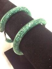 DARK GREEN STARDUST MESH MAGNETIC  BRACELET  Swarovski Crystal ELEMENTS