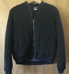 595-Basco-Barneys-Sportswear-Navy-Men-s-Bomber-Jacket-Wool-Medium