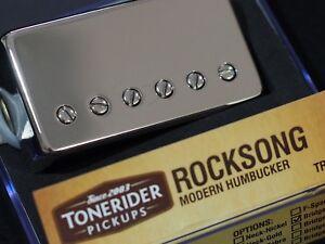 image is loading tonerider-rocksong-neck-pickup -nickel-cover-humbucker-overwound-